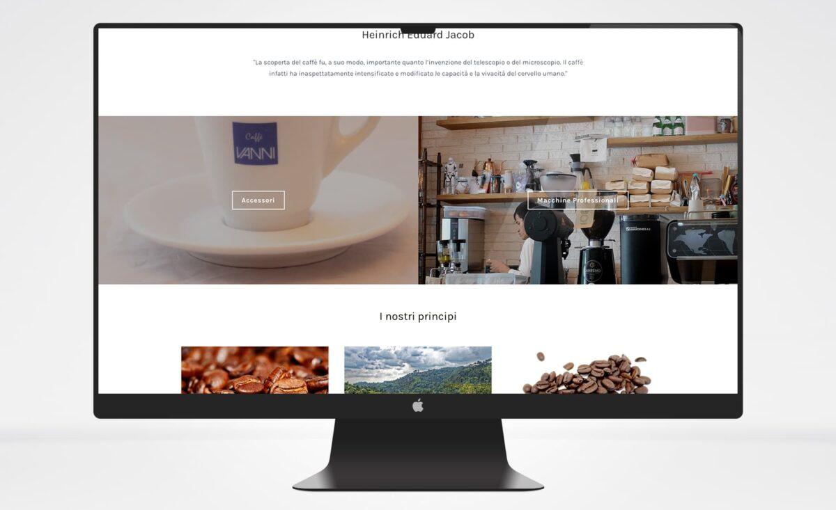 Servizio manutenzione WP sito web Caffè Vanni