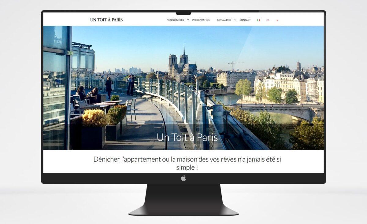 Un toit à Paris restyling sito web